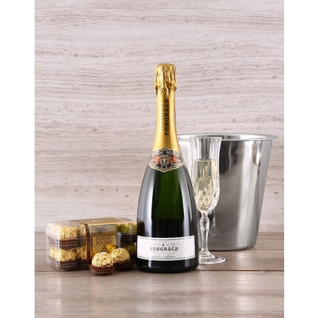 Champagne, Ice Bucket & Chocolate Gift