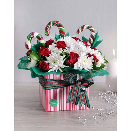 Christmas Candy cane Flower Box
