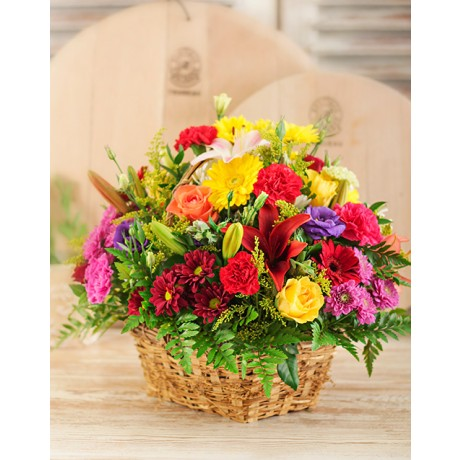 Mixed Country Flower Basket