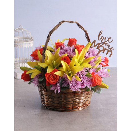 Mixed Flower Basket for Mothers Day
