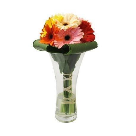 Mixed Gerberas in a Vase Arrangement