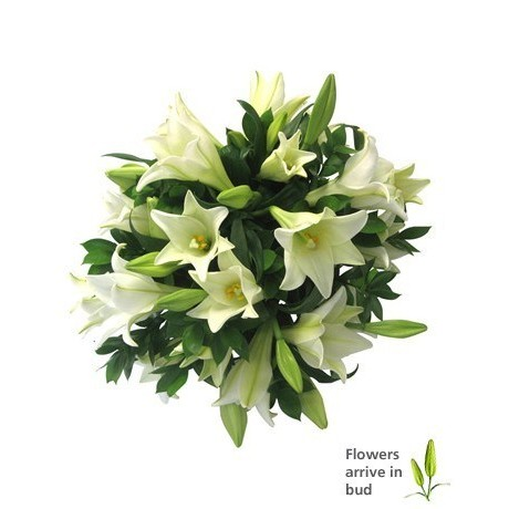 White Lily Bouquet for Mothers Day