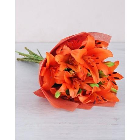 Bouquet of Orange Lilies