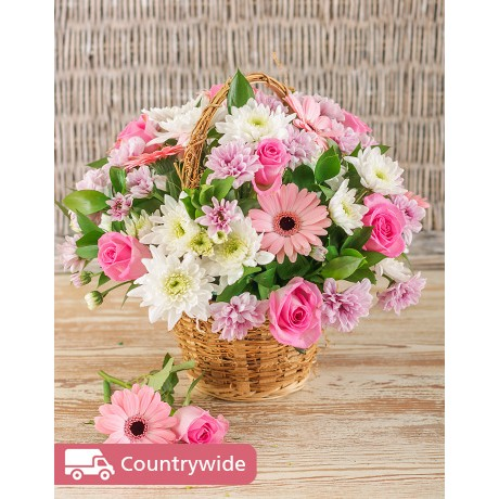 Pink Flower Basket