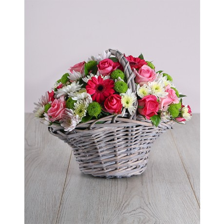 Pink Flower Basket - Mothers Day