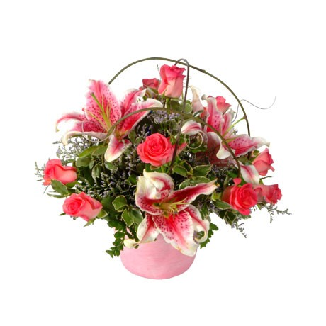 Posy with Mixed Pink Flowers