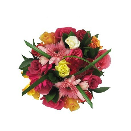 Roses and Gerberas Mothers Day Bouquet