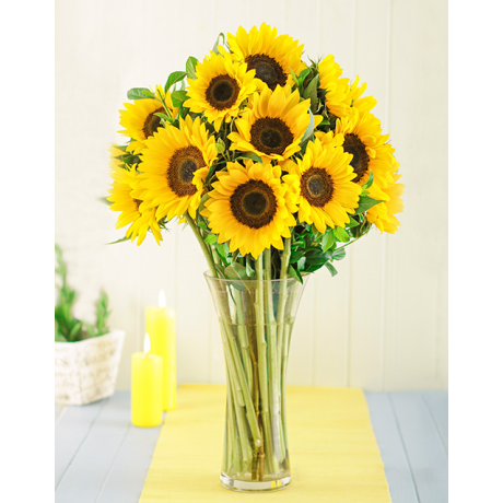 Sunflowers In A Vase Inmotion Flowers