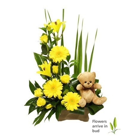 Yellow New baby Arrangement