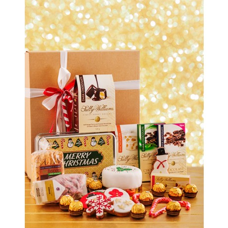 Christmas Cake, Biscuits, Chocolate & Nougat Hamper