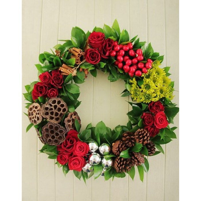 Christmas wreath of flowers ornaments south africa for African christmas decoration