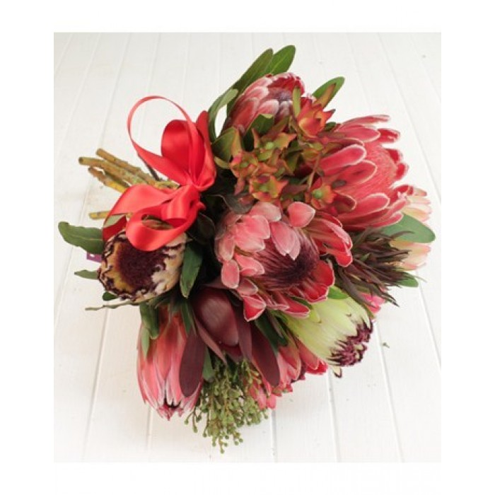 Mixed Protea Bouquet | Proteas in Cellophane | inMotion Flowers