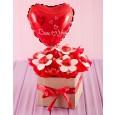Valentines Day Lindt Chocolate Flower Arrangement