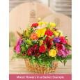 Custom Flowers in a Basket