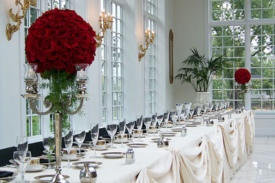 Red Rose Ball Centrepiece