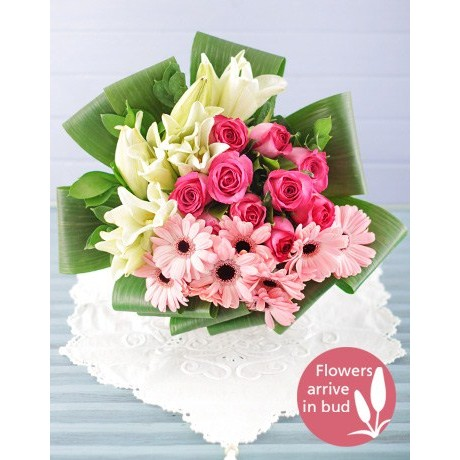 Lily, Rose & Gerbera Bouquet