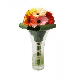 Mixed Gerberas in a Vase Arrangement