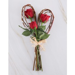 Red Roses & Willow Heart
