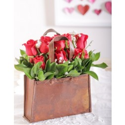 Red Roses in a Handbag