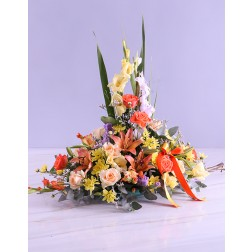 Upright Ikebana Arrangement