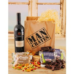 Wine, Biltong & Nuts Man Crate South Africa