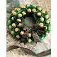 Edible Ferrero Chocolate Christmas Wreath