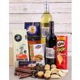 Gourmet Wine, Chocs, Biltong & Snack hamper