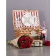 Valentines Day Picnic and Rose hamper