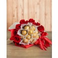 Red Roses & Ferrero Valentines Bouquet
