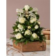White Rose Christmas Tree Arrangement