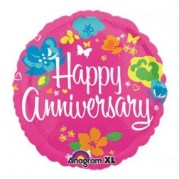 Happy Anniversary Balloon  (JHB, PTA, CPT, DBN ONLY)